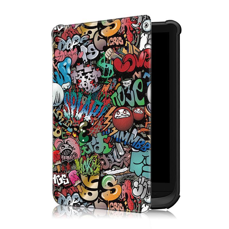 30 STÜCKE Flip PU Ledertasche Smart Cover mit Auto Sleep Wake Up Funktion für Pocketbook 616 632 627 Tablet E-Reader + Stylus
