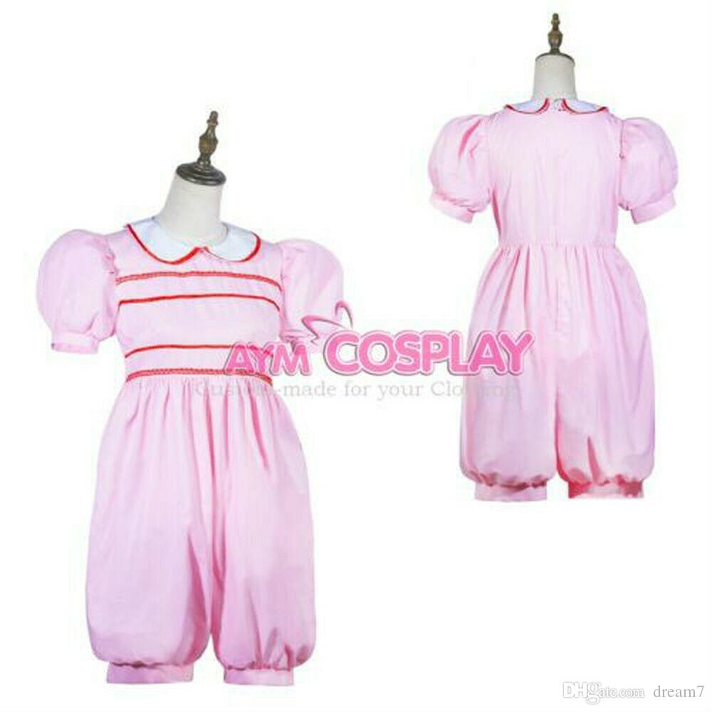 Pre-made US Size 20 pink cotton sissy boy jumpsuit