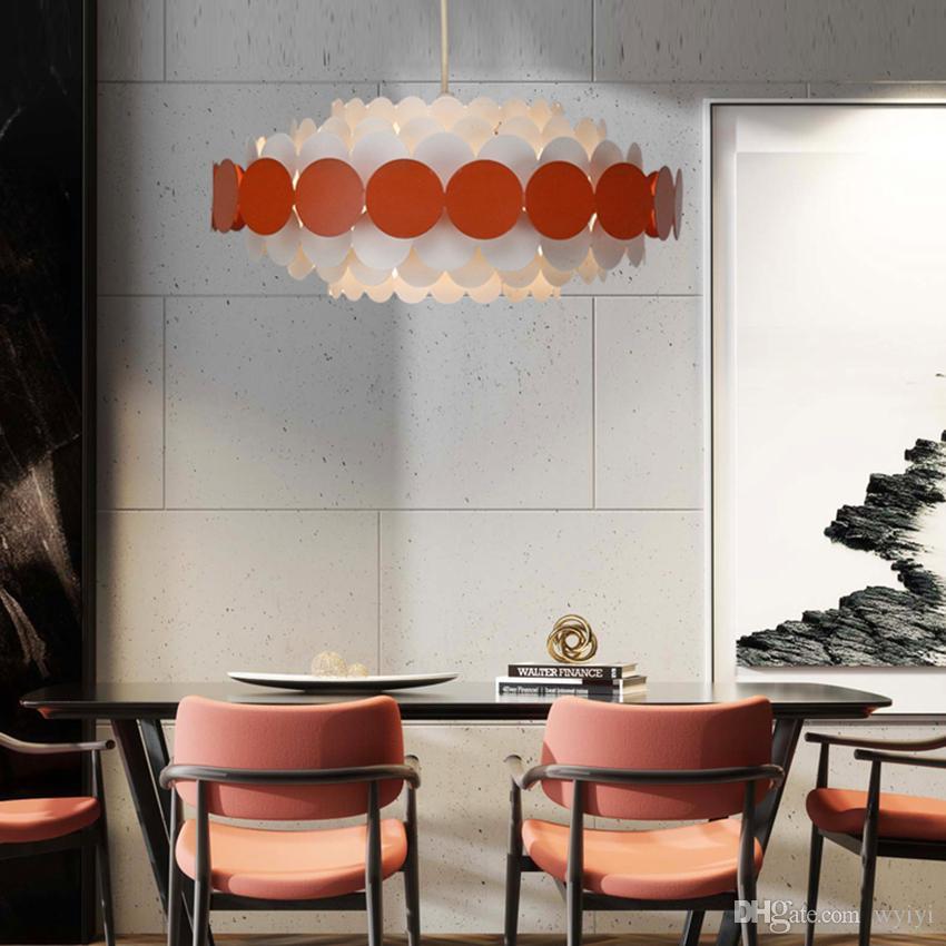 현대 쳐도 철 펜던트는 AC 100-265V 조명 데코 거실 아트 식당 침실 파란색, 빨간색 검은 꽃 창조적 매달려 램프를 점등