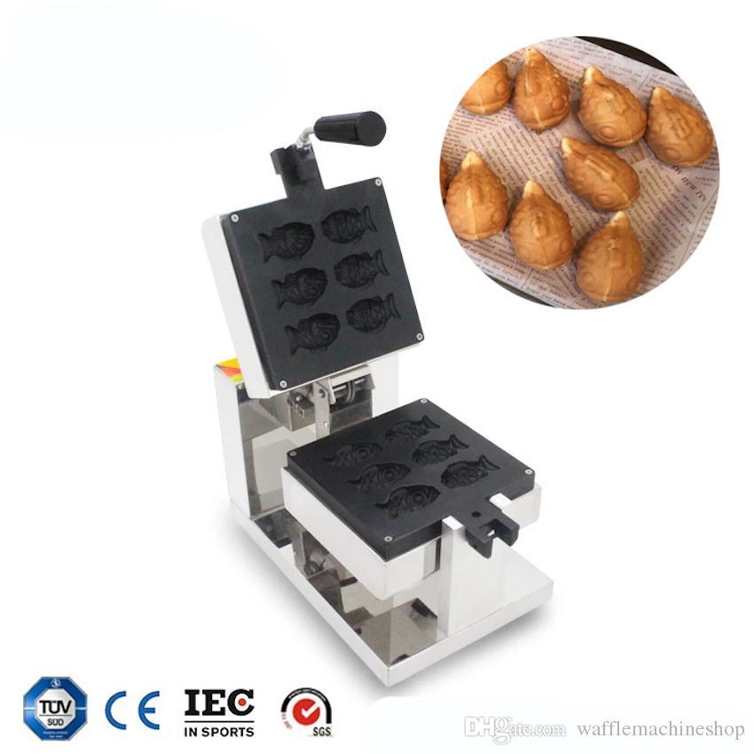 Mini Kek Makinesi Küçük Balık Waffle Makinesi Café Hotel Restaurant Snack Ekipmanları Ticari Taiyaki Waffle Maker