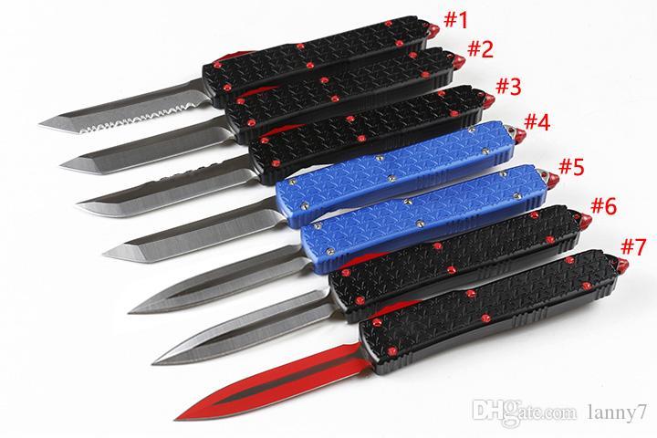 Oferta Especial A8 Auto tático faca D2 inoxidável Blade T6061 de alumínio Handle externas EDC facas de bolso com Repair Tool