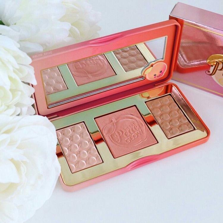Vente en gros doux Peach Nouveau maquillage doux Faced Peach Glow 3 fard à joues Poudre Couleur Fard DHL Livraison gratuite