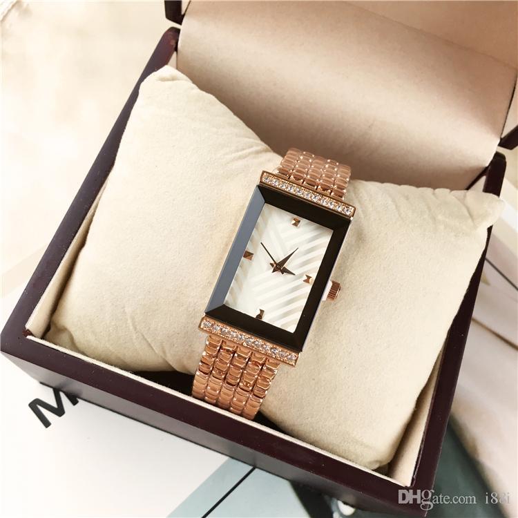 De lujo nuevo de las mujeres relojes de oro rosa Relojes mujer Relogio Masculino Señora reloj Mecanismo de Japón 15pcs precio al por mayor DHL libre