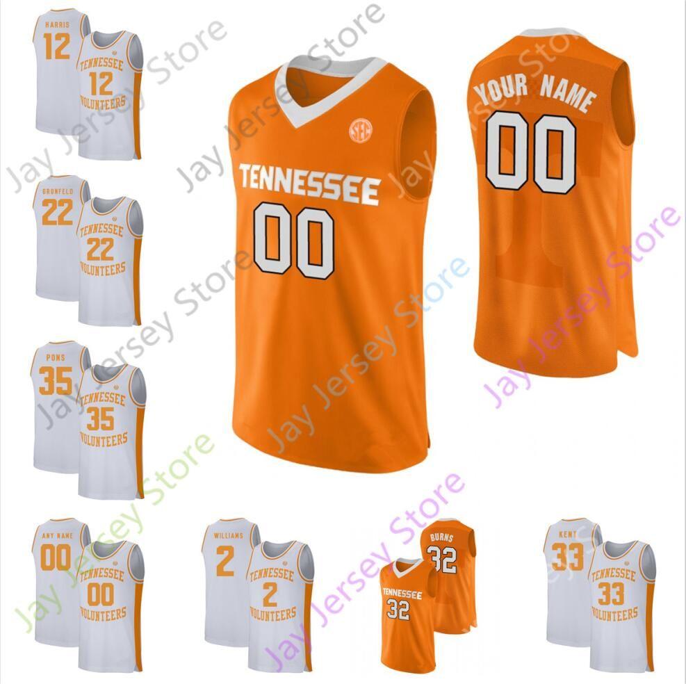 2020 Tennessee Basketball Jersey personnalisés College 5 Admiral Schofield 12 Tobias Harris 1 Josh Richardson 53 Bernard Roi