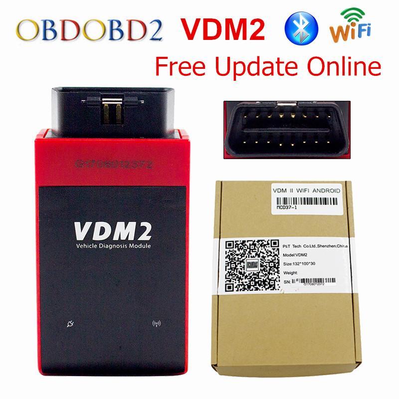 Original UCANDAS VDM2 Auto Diagnostic Scanner VDM II WIFI & Bluetooth V5.2 Support Multi-Language Free Update Online