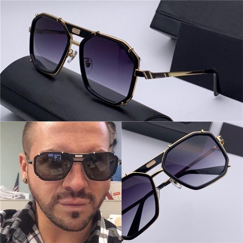 Nouveaux hommes Square Simple Design Sunglasses 659 Allemand Retro Cadre populaire Punk Style Style Design Lunettes de soleil avec cas JLPJP