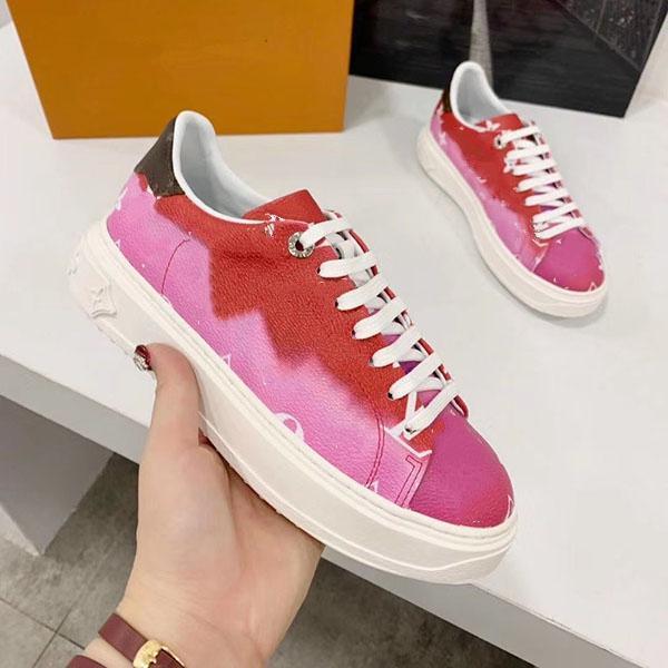 Louis Vuitton LV Donna sportiva scarpe di lusso della scarpa da tennis Scarpe piatto High Top Lace-up Moda sposa nero Chaussures 34-41 MK01