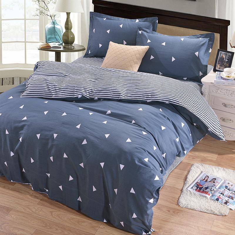 Conjuntos de funda nórdica con estampado geométrico para cama doble individual Adultos 6 tamaños Juegos de cama de algodón 100% XF641-1