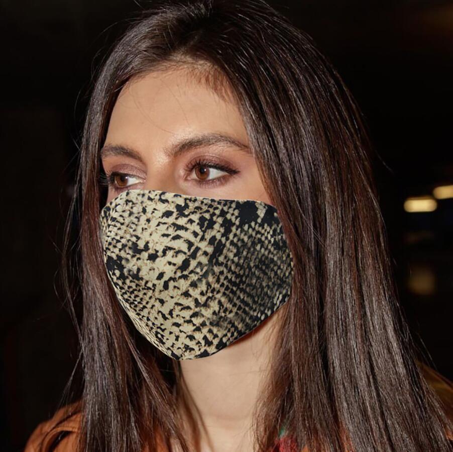 3D imprimé léopard masque facial femmes été sunproof antipoussière Anti-brouillard Haze Masques bouche Couverture unisexe, lavable respirateurs 5 couleurs