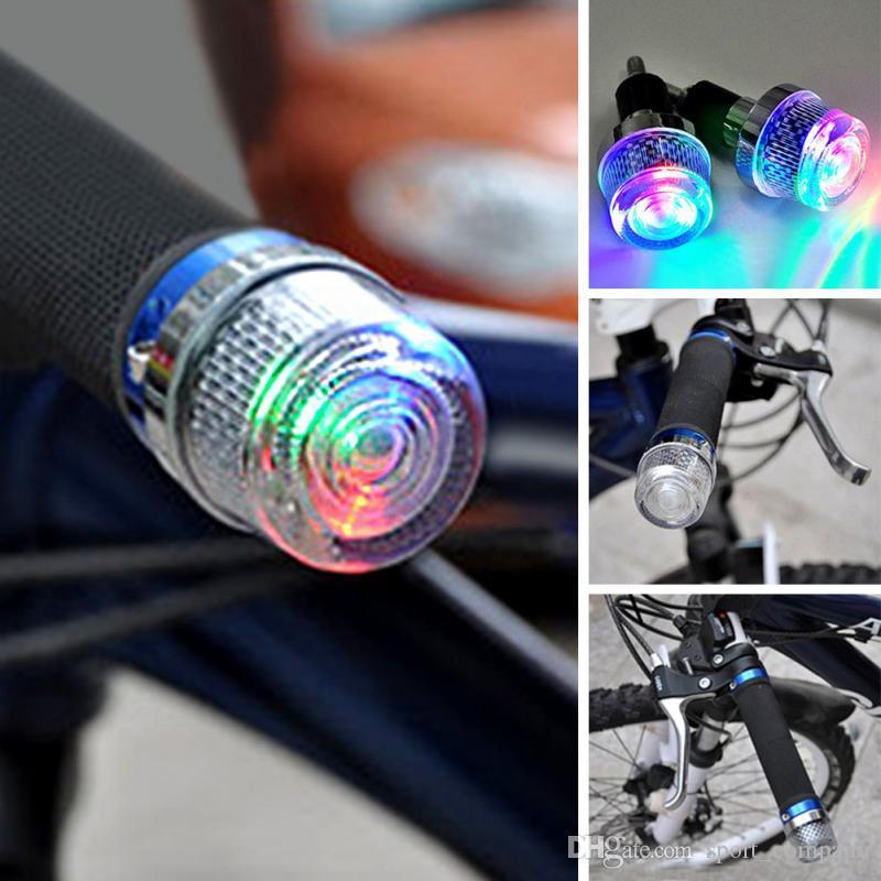 MTB Bike Bicycle Cycling LED Front Handlebar Light Warning Lamps Bar End Plug UK
