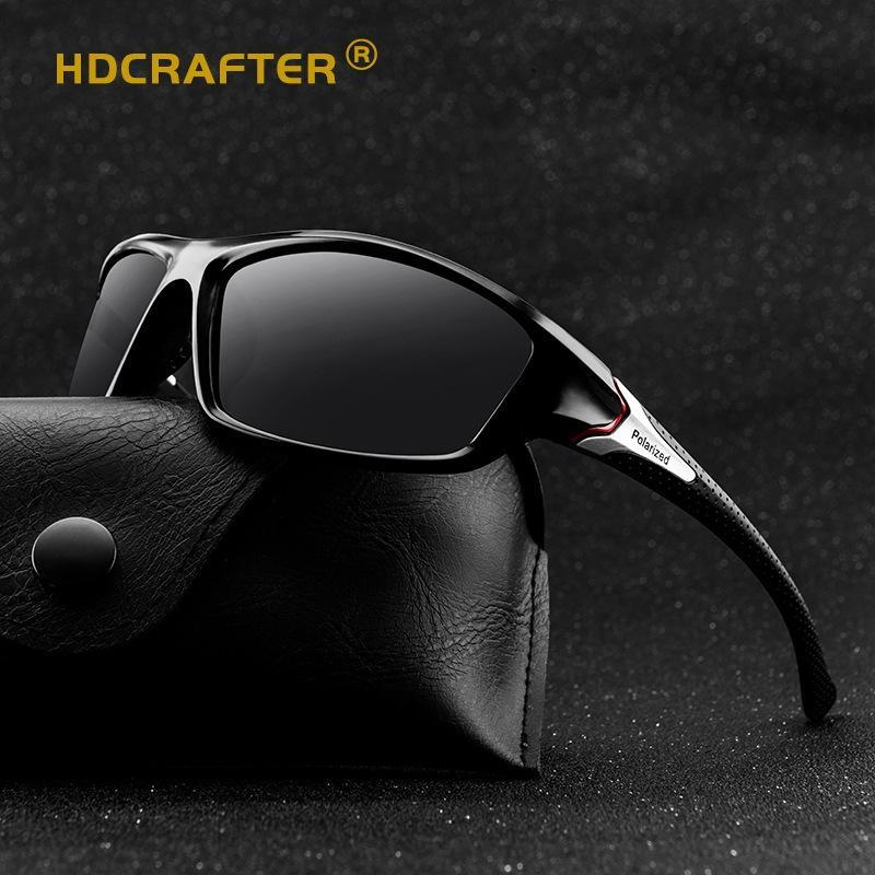 de metal de los hombres HDCRAFTER polarizado colorido de sol gafas de sol clásicas de la manera de conducir las gafas D120