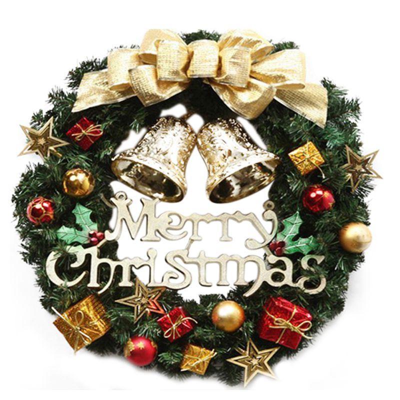 Noel Çelenk Noel ağacı Yuvarlak Halka El işi Şık Tatil Çelenk Duvar Noel Dekorasyon s06