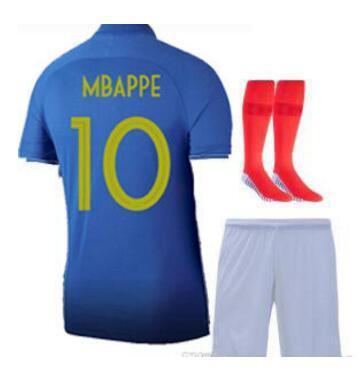 Mbappe 100 JERSEY Pogba FFF 100 mavi formaları yüzüncü jersey 2019 Centenaire Maillot 2019 forması