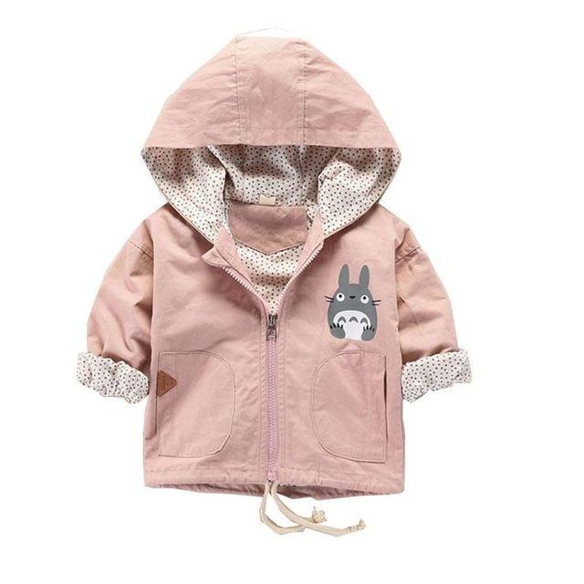 vestiti del bambino ragazza rivestimento dei bambini incappucciati del fumetto del cappotto del neonato vestiti del bambino di stile coreano del bambino del bambino vestiti del rivestimento