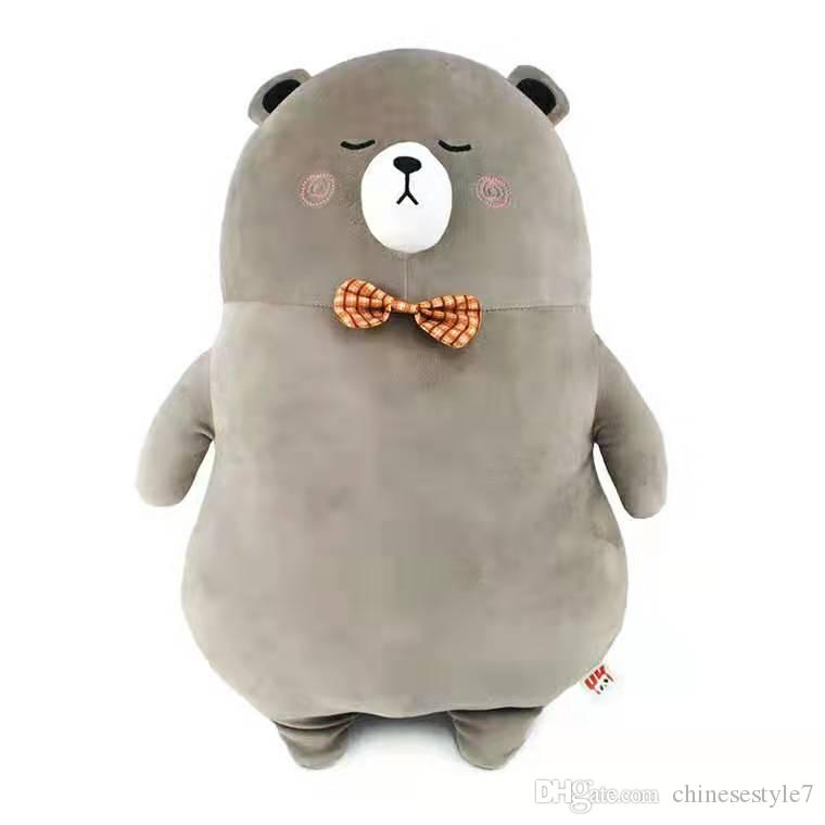 Silver Fox Stuffed Animal, 2020 Creative New Stance Bow Animal Doll Bear Large Pillow Plush Toy Soft Touch Chest Bow Silver Fox Velvet Fabric From Chinesestyle7 20 11 Dhgate Com