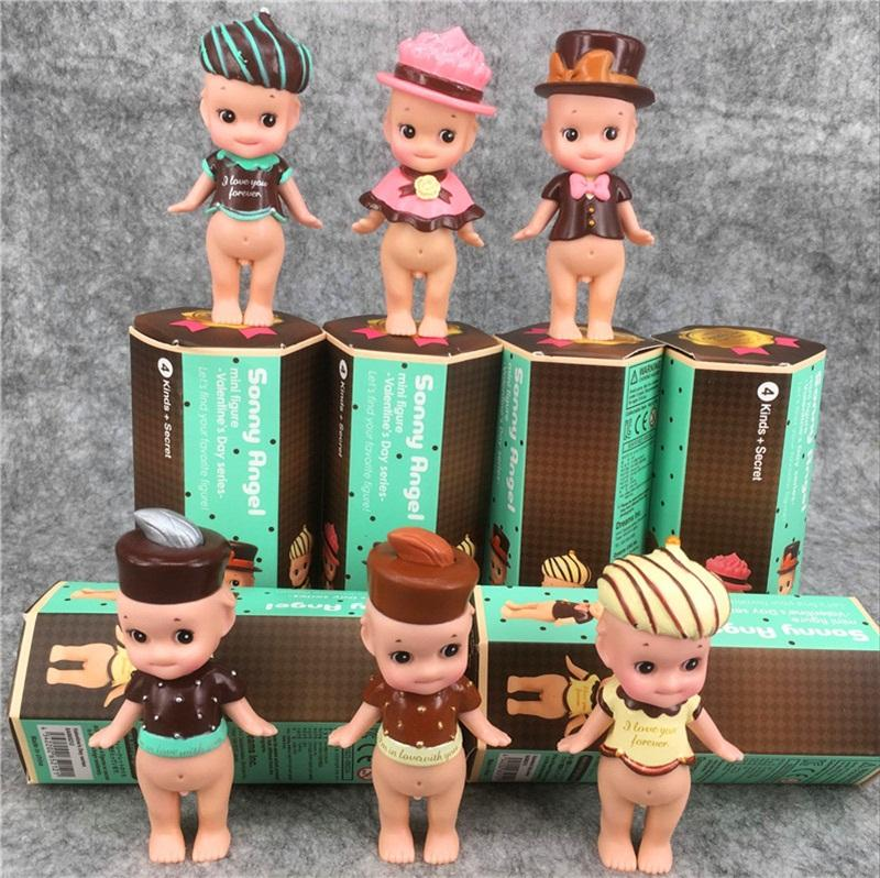 Angel Cupid Baby Doll Adorable Toy 8 Cm PVC Dolls Six Style Birthday Cake Ornament Hot Sell 9hs O1