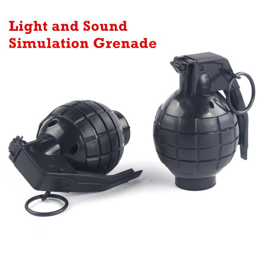 1PCS Jokes Gags Pranks Maker Outdoor Sports Sound and light simulation hand Grenade Funny & Tricky Toy For Kids