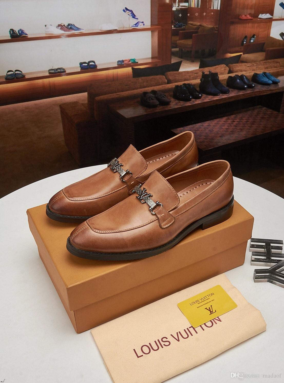 2019 boda Oxford zapatos de los hombres vestido de la manera Zapatos de los hombres de lujo elegante de los diseñadores Social zapatos formales de los hombres Zapatos De Hombre