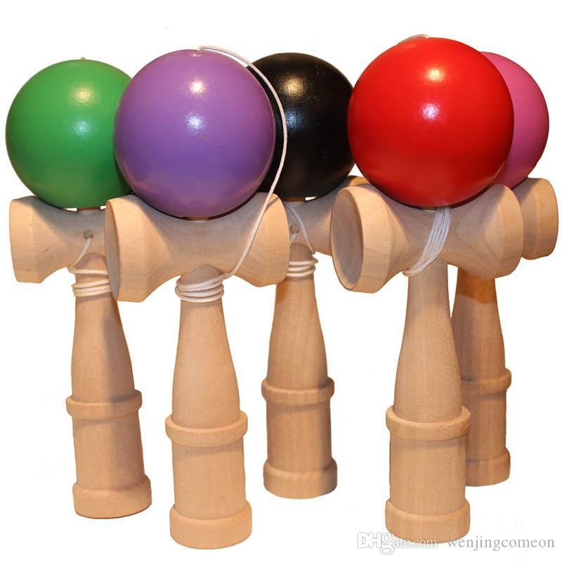 Enfants Kendama Jouets en bois Kendama jonglerie Habile balle Jouets Stress Relief jouet éducatif pour les enfants adultes Outdoor Sport 18 * 6cm