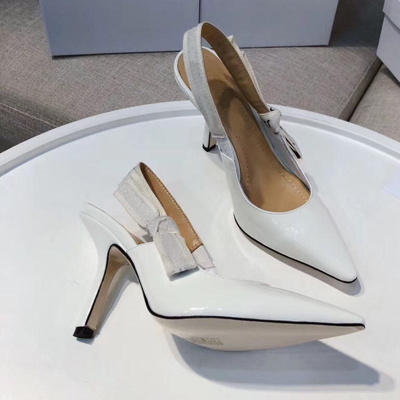 Diseñador para mujer tacones altos fiesta moda chicas sexy apuntadas zapatos danza zapatos de boda doble correas sandalias zapatos para mujer tamaño 35-42