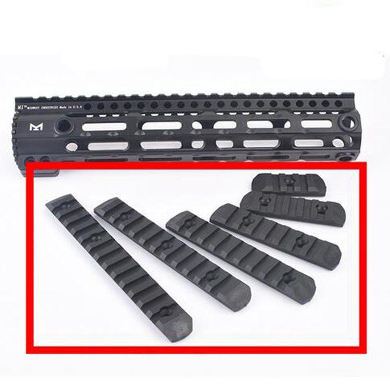 전술 Airsoft KeyModM-LOK 고분자 레일 세트 (6 개) Picatinny Rail Cover Handguard Protection Mount