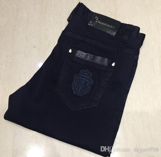 Bi * llionai * re Itali * eine Co * uture Jeans Herren 2019 neue Stickerei Mode bequeme Flut