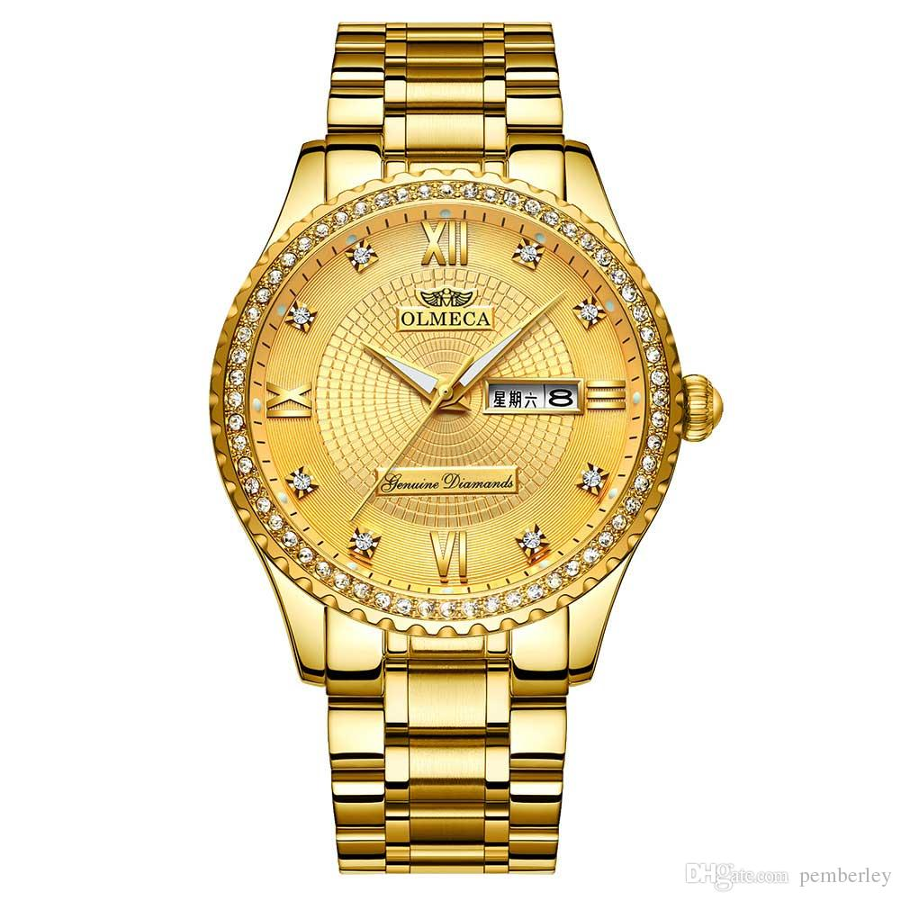 0867 2019 heißer verkauf luxusuhr für männer automatische bewegung gold zifferblatt herrenuhr edelstahl herrenuhren