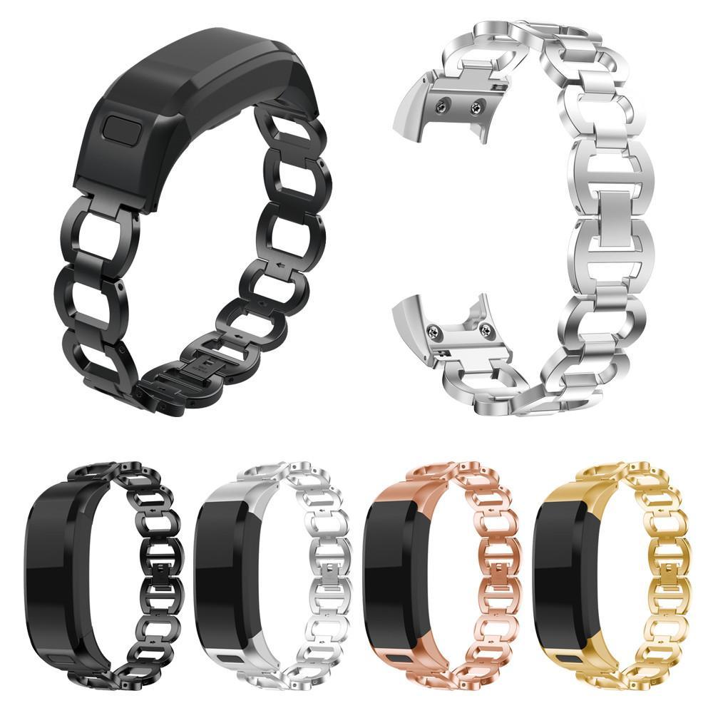 Роскошные часы из нержавеющей стали ремешок Ремешок для Garmin VIVO умного HR Quick Release Запуска наручного Bands браслет