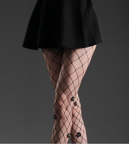 Seksi çiçek çoraplar kadın dibe çorap moda seksi günaha file Avrupa ve American0011 külotlu