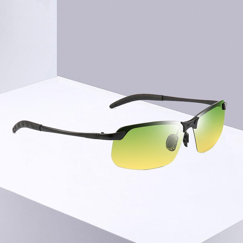 2020 데이 나이트 비전 선글라스 남성 야간 운전 드라이버 남성 안전 운전은 UV400 안경 낚시