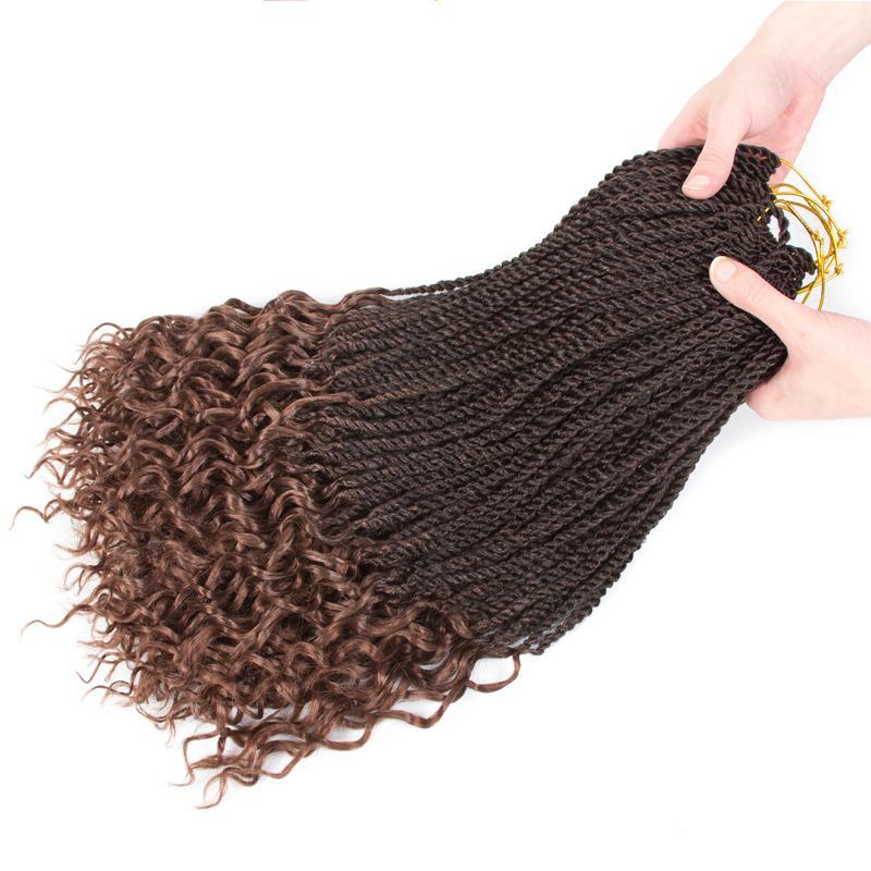 Сенегальский Twist половина волос кудрявые новой моды 18 дюймов Kanekalon вязания плетенки Сенегальский Twist волос Прическа Синтетический волос для Braid 2020