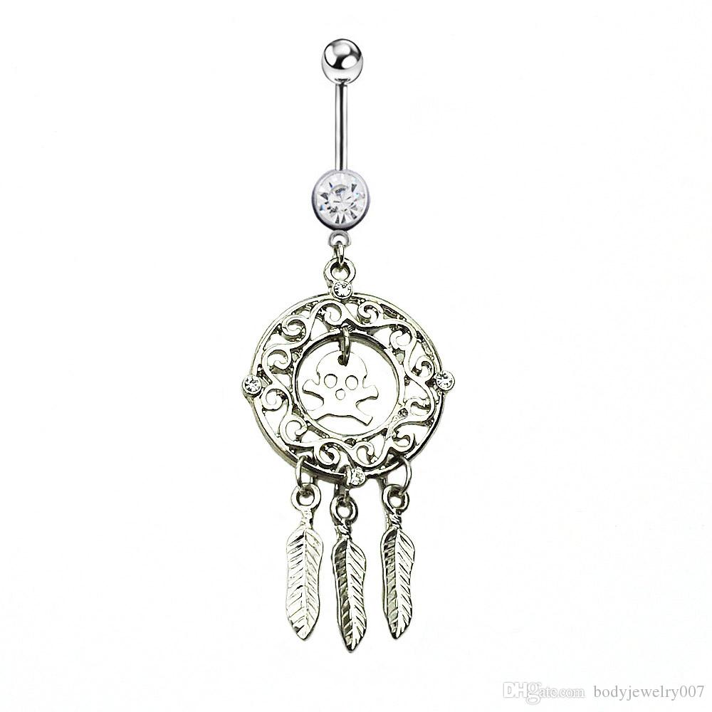 D0647 ( 1 color ) styl belly ring belly ring style dream catcher style Rings Body Piercing Jewelry Dangle Accessories Fashion Charm 10PCS