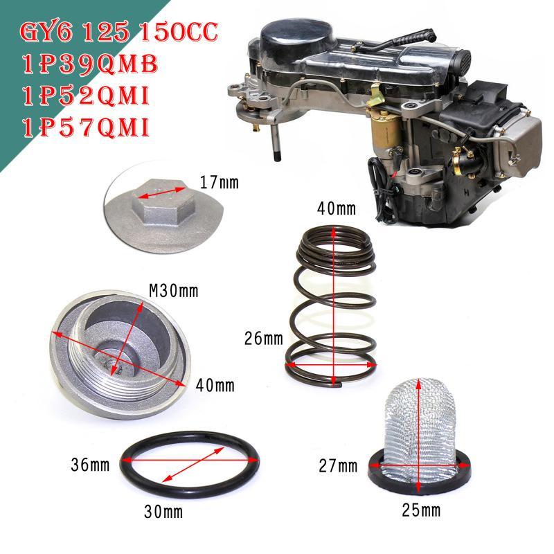 Accesorios auto del coche de la motocicleta GY6 50cc a 150cc 125/150 piezas del motor del ciclomotor Enchufe de aceite filtro de desagüe Tornillo Vespa