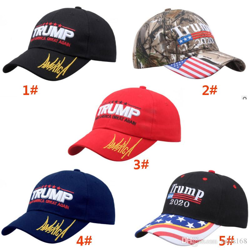 President Donald Trump 2020 US Election Camouflage Baseball Hat USA Flag Cap