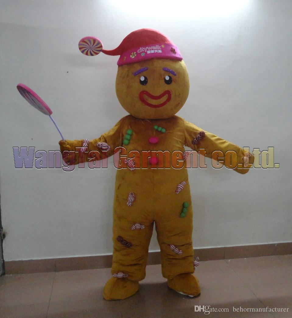 Gingersnap Maskottchen Kostüm Professionelle erwachsene Größe Carnival Anime-Film Charakter klassischer Cartoon erwachsenen Charakter Cartoon Klage Freies Verschiffen