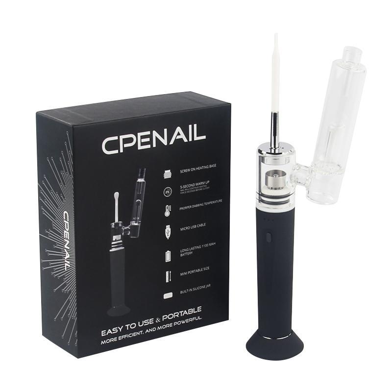 Wape portátil seco Herb Wax vaporizador Pen Dab Rig Vape Starter Kit CPENAIL com cerâmica Wuartz Titanium Câmara de Aquecimento E prego Bong