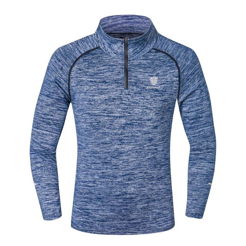 Мужской с длинным рукавом спортивные топы спортивная одежда мужчины фитнес быстросохнущая футболка открытый бег альпинизм одежда тренировочная рубашка