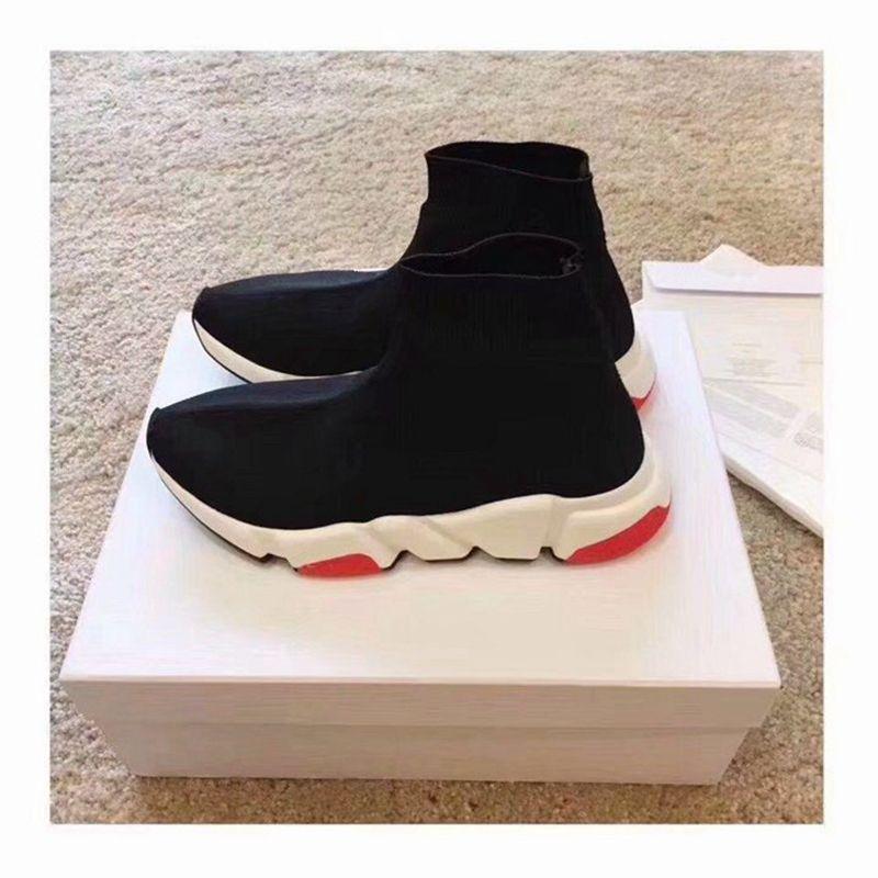 H909 Designer Mens Shoes Mens And Women Online Celebrity Shoes Celebrity High Help Elastic Sock Shoes Size 35-45