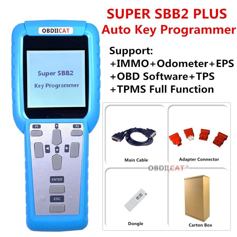 SUPER SBB2 FFS PIÙ programmatore chiave auto per IMMO / contachilometri / TPMS / EPS / BMS + programmatore chiave per Universal Auto