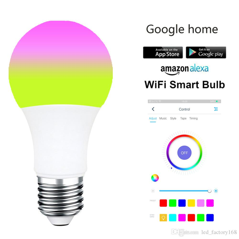 LED WiFi Smart Light Bulbs 7W WiFi Light Bulb Works with Amazon Alexa Google Home and IFTTT RGBW Color Changing Warm White Dimmable