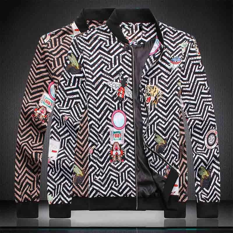 2019 Resp hommes Veste de luxe High Street Medusa Lettre Zipper Imprimer Veste à capuche coupe-vent Vêtements Homme de haute qualité de Tag femmes Nouveau