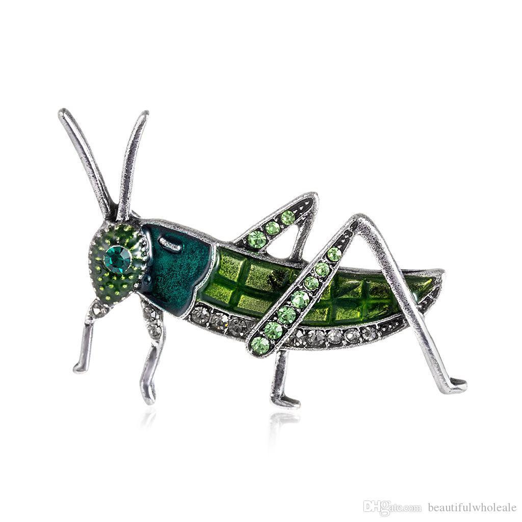 Yapay elmas Haşhaş Broş iğneler Noel Broşlar geyik Mini'nin broş renkli kristal Kadınlar için Çekirge Broş / erkekler Toptan Çok Güzel