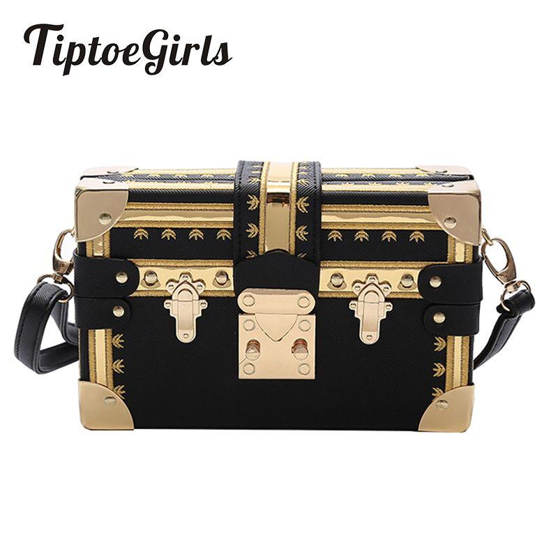 Caja de moda Bolso de las mujeres Remaches Moda Mujeres Messenger Bags Small Square Girls Shoulder Bags 2018 Nuevos Paquetes de Hombro Femenino J190719