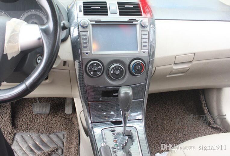 Interrupteur lève-vitre de voiture Bouton panneau décoratif + panneau de changement de vitesse + état de l'air de ventilation cadre décoratif pour Toyota Corolla 2007-2013