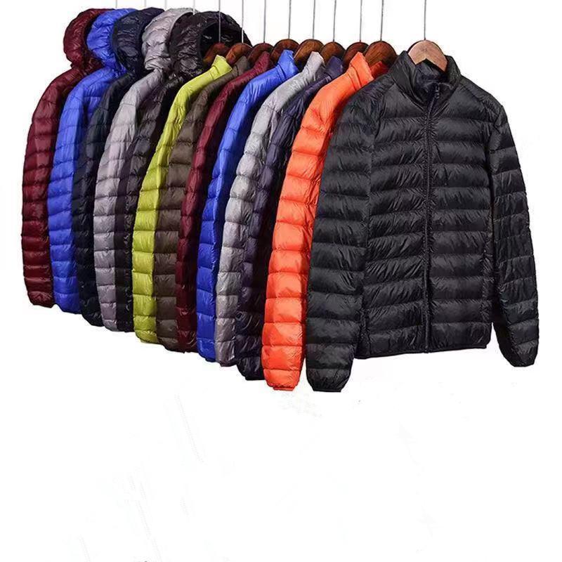 Giacca in cotone piumino di marca degli uomini inverno caldo cappotto Mens incappucciato spesso Ultralight casual parka moda maschile imbottite giacche di cotone