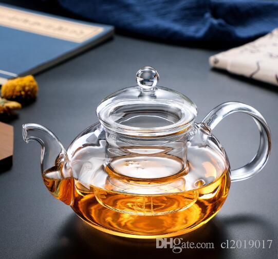 Infuser Tea Leaf Bitkisel Çay 400ml, 1000ml Yeni Pratik Dirençli Şişe Kupa Cam Çaydanlık