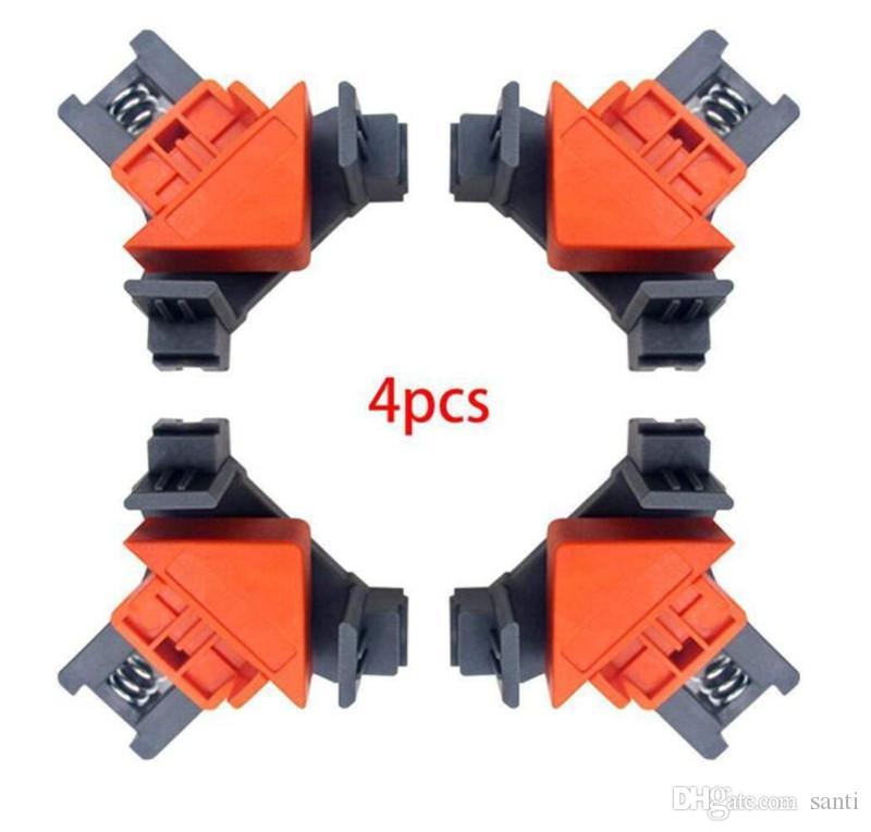 Nuove Arti 90 gradi angolo retto morsetto clips di fissaggio Cornice mobili d'angolo morsetto lavorazione del legno utensili a mano repaire foto di rinforzo