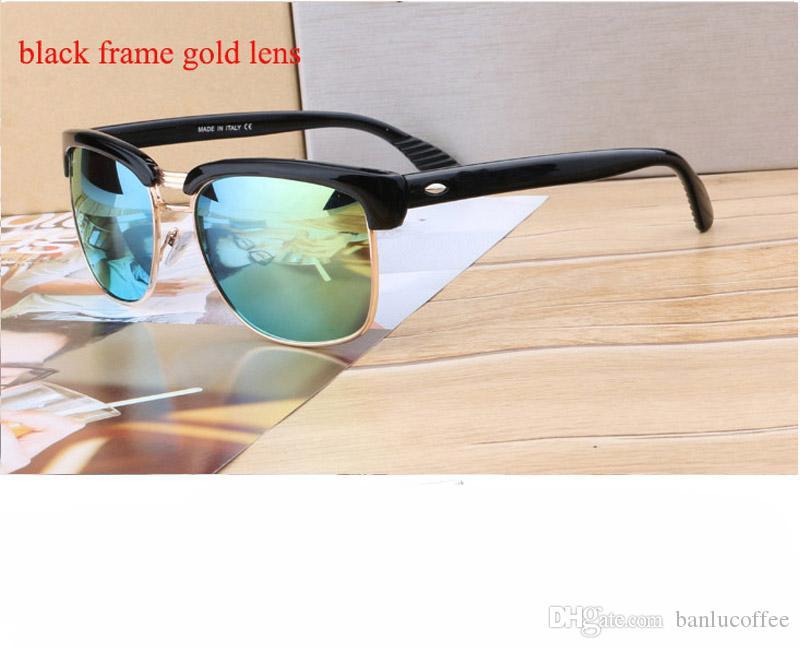 2018 hommes Lunettes de soleil mode Femmes Marque Designer Lunettes de soleil pour dames rétro UV400 anti-réfléchissant Femme Oculos avec la boîte et le boîtier