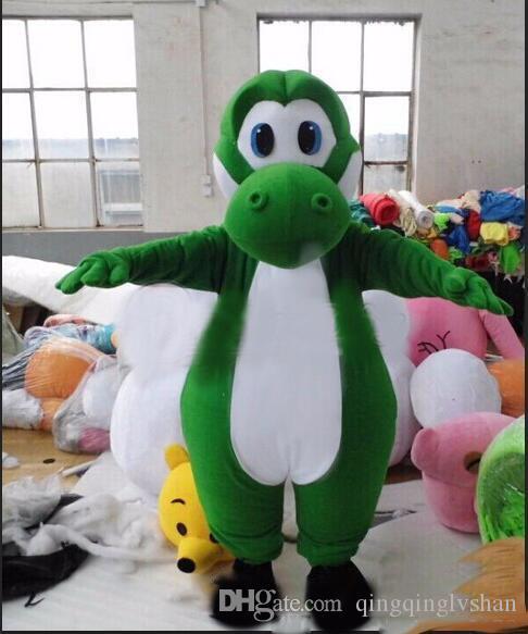 2018 Горячие продажа взрослых Марио Йоши костюм талисмана настройка супер мило Бесплатная доставка