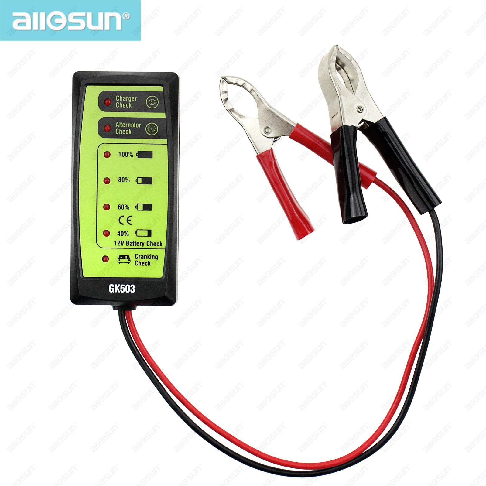 LED 표시 모델 모든-일 GK503 가진 자동 저장 배터리 테스터 휴대용 자동차 12V 배터리 테스터 충전기 확인